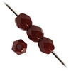 Fire Polished 4mm Opaque Dark Red